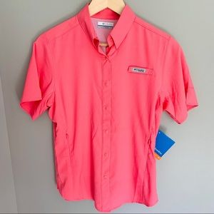 {NWT}Columbia | Women's Coral Button Up Collar Top